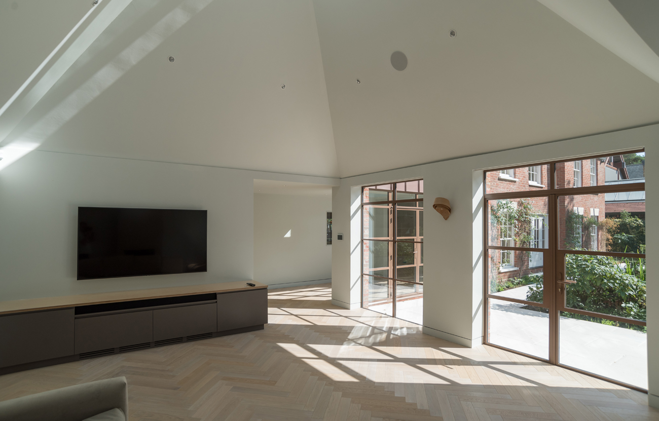 Bespoke joinery in extension