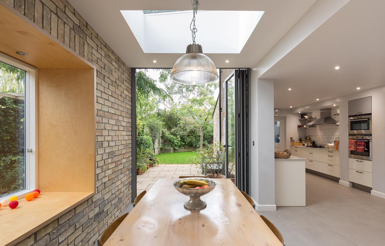Interior view out to rear garden