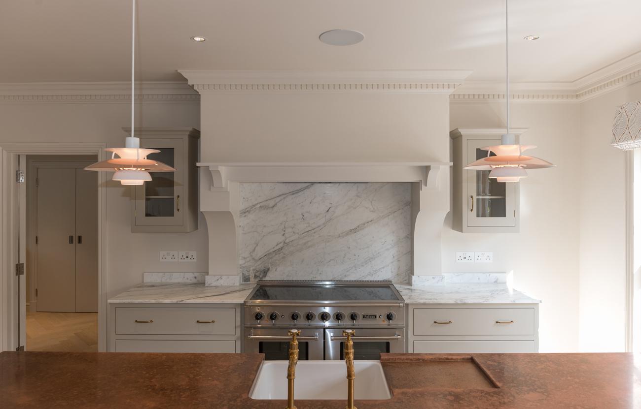 Kitchen with copper worktop
