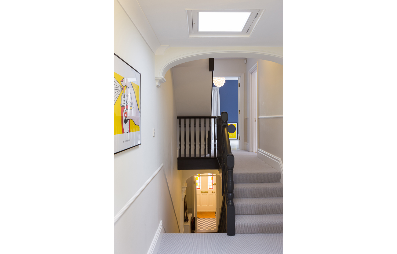 Stairwell update in victorian terrace