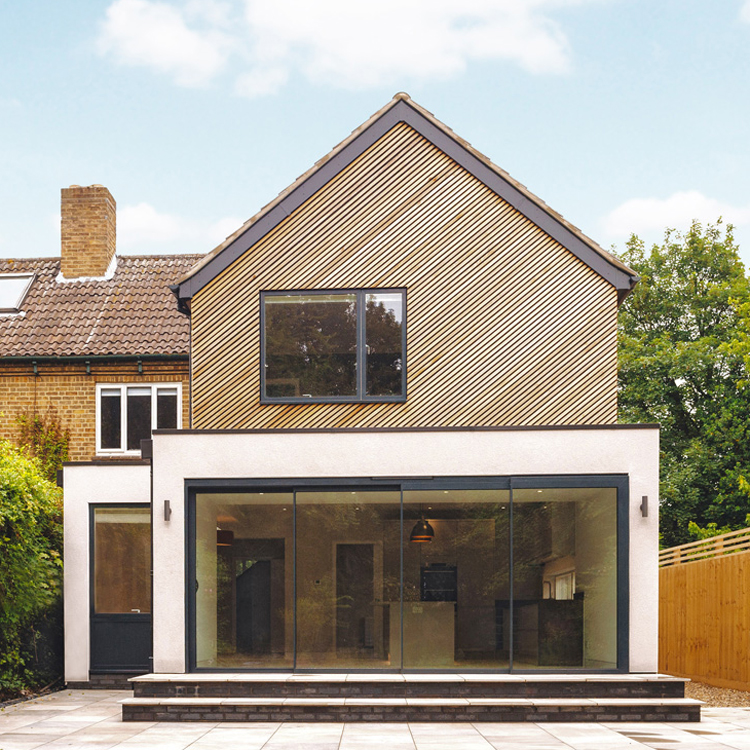 cedar cladded extension cambridge