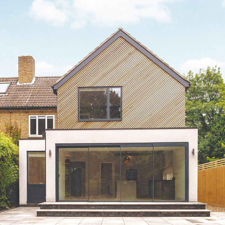 cedar cladding cambridge extension